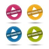 No Trans Fat - Colorful Vector Icons - Isolated On White. Background Stock Image