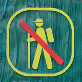 No trekking sign Stock Photo