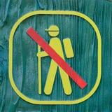 No trekking sign Stock Photo