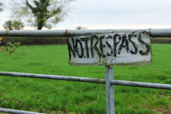 No Trespass Sign Royalty Free Stock Photography