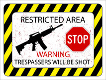 No trespassers allowed Stock Photos