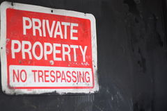 Free No Trespassing Stock Images - 19569084
