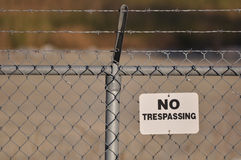 No Trespassing Stock Image