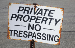 Free No Trespassing Stock Images - 36265714