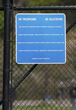 No Trespassing. Sign Royalty Free Stock Photo