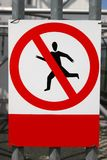 No Trespassing. Sign on metal fence Royalty Free Stock Photo