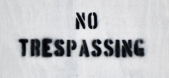 No Trespassing 2 Royalty Free Stock Photography