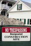 No Trespassing - Construction Site Stock Photos