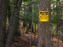 No Trespassing Posted  Private Property Sign Stock Photography