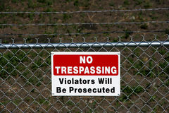 Free No Trespassing - Private Stock Photo - 3458960