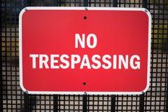 No Trespassing Royalty Free Stock Photos