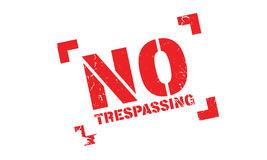 No Trespassing rubber stamp. Grunge design with dust scratches. Effects can be easily removed for a clean, crisp look. Color is easily changed Royalty Free Stock Photography