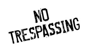 No Trespassing rubber stamp. Grunge design with dust scratches. Effects can be easily removed for a clean, crisp look. Color is easily changed Royalty Free Stock Image