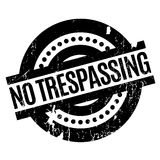 No Trespassing rubber stamp. Grunge design with dust scratches. Effects can be easily removed for a clean, crisp look. Color is easily changed Royalty Free Stock Photos