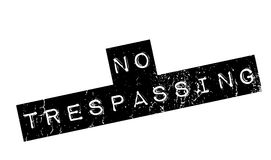 No Trespassing rubber stamp. Grunge design with dust scratches. Effects can be easily removed for a clean, crisp look. Color is easily changed Stock Images