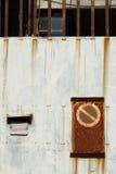 No trespassing rusty gate Royalty Free Stock Photos