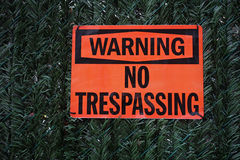 No Trespassing Sign Stock Photos
