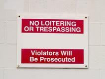No Trespassing Sign royalty free stock photo