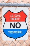 """No Trespassing"" sign Royalty Free Stock Photos"