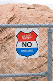 """No Trespassing"" sign Royalty Free Stock Images"