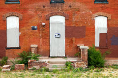 No Trespassing Sign on Abandoned Building Stock Photos