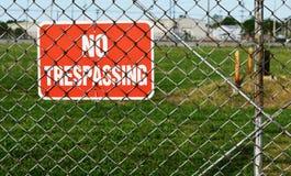 No Trespassing Sign Stock Image