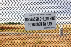 No Trespassing sign on government property Stock Photo