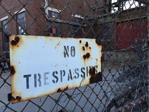 No Trespassing Royalty Free Stock Image