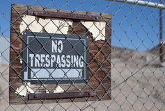 No trespassing sign Royalty Free Stock Photos