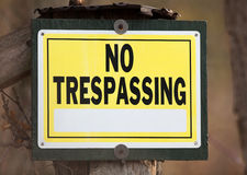 No Trespassing Sign Royalty Free Stock Images