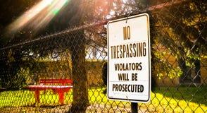 No Trespassing Sign Royalty Free Stock Photos