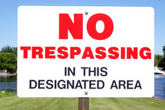 No Trespassing Signage Royalty Free Stock Photo
