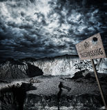 No trespassing zone Royalty Free Stock Images
