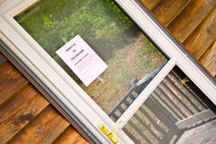 No Tresspassing Sign on Door Stock Photo