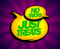 No tricks just treats design. Stock Images