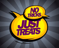 No tricks, just treats pop-art design with balloons. Royalty Free Stock Photos