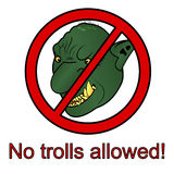 No trolls allowed sign vector illustration Stock Photography
