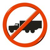 No truck. Sign - computer generated image Royalty Free Stock Photos