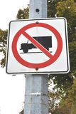 No truck allowed sign Stock Photo
