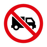 No truck icon great for any use. Vector EPS10. Royalty Free Stock Images