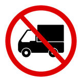 No truck or no parking sign. Royalty Free Stock Photos
