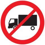 No truck prohibition symbol Royalty Free Stock Photo