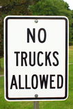 No Trucks Allowed stock photo