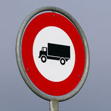 No trucks allowed road sign Stock Photography