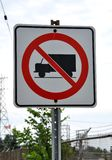 No trucks allowed sign Royalty Free Stock Image