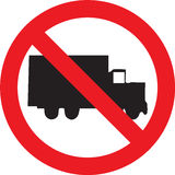 No trucks sign Stock Images