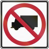 No Trucks Stock Photography