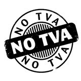 No Tva rubber stamp Stock Photography