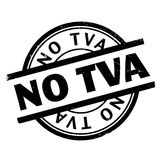 No Tva rubber stamp Stock Image