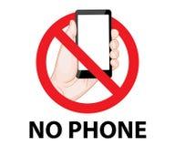 No używa telefonów komórkowych znaków Zdjęcia Stock